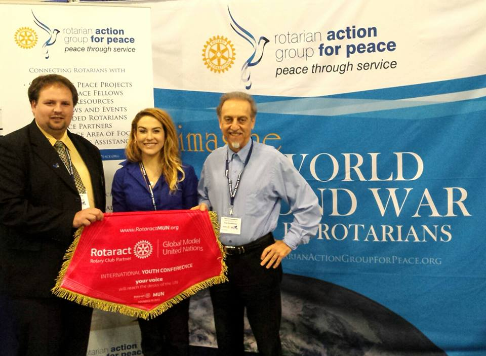 rotaract mun and rotarian action group for peace
